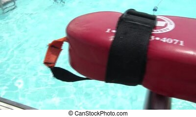 View From Lifeguard Seat - Panning behind a lifeguard seat...