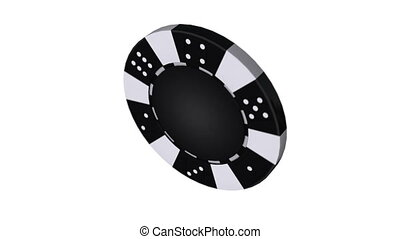 Casino chip, Animation isolate on white