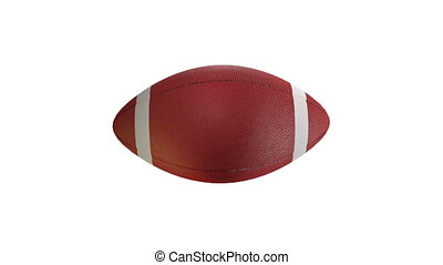 Rugby football - Rotation on white background, loop