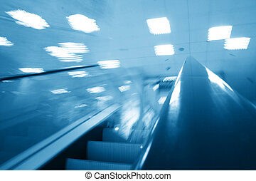 transportation escalator - escalator transportation motion...