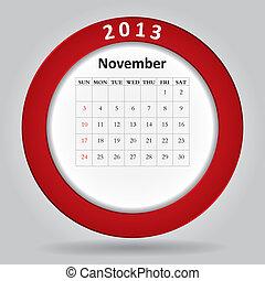 mensal, Calendário, modernos