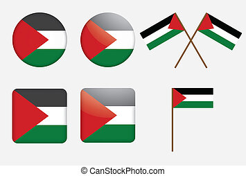 badges with flag of Palestine