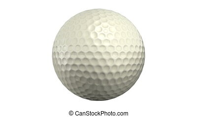 Golf ball - isolated on white background