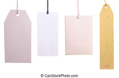 Set of paper tags isolated