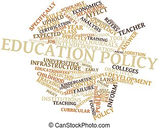 Education policy - Abstract word cloud for Education policy...