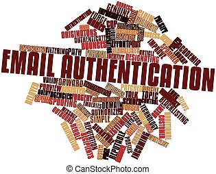 Email authentication - Abstract word cloud for Email...