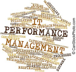 Word cloud for IT performance management - Abstract word...