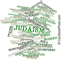 Word cloud for Judaism - Abstract word cloud for Judaism...