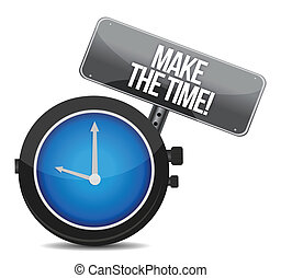 make time message concept