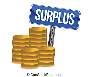 surplus money illustration design over a white background