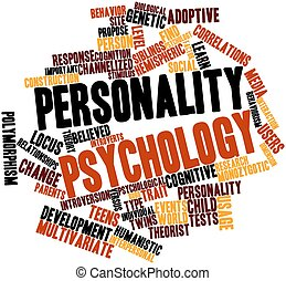 Word cloud for Personality psychology - Abstract word cloud...
