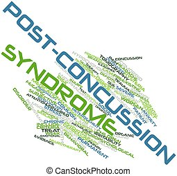 Post-concussion syndrome - Abstract word cloud for...