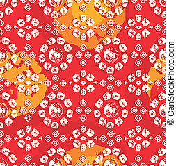 Seamless background for fabrics and textile