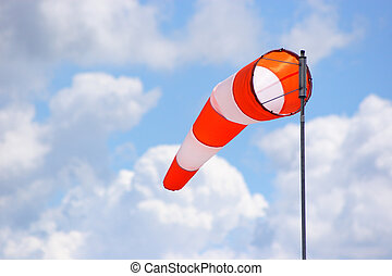 Windsock blowing in the breeze, a great day to fly