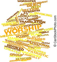 Word cloud for Worship - Abstract word cloud for Worship...