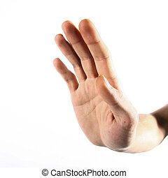 Stop - The hand shows a sign stopping you from mistakes