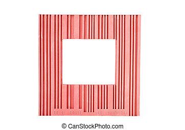 框架, 白色, 紅色, 被隔离