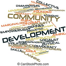 Community development - Abstract word cloud for Community...