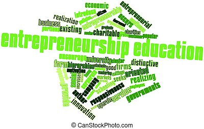 Entrepreneurship education - Abstract word cloud for...