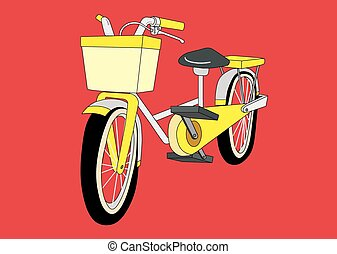 Bike - A wheeled vehicle that has two wheels and is moved by...