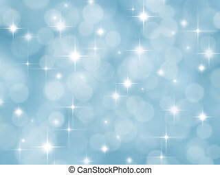 Abstract blue background with boke effect and stars -...