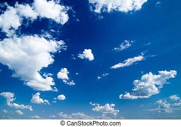 clouds in blue sky - White clouds in blue sky