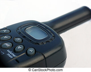 Walkie Talkies CB Radio - Close up of a walkie talkie CB...