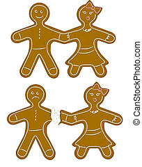 Gingerbread Couple Break Up - Christmas cookie together and...