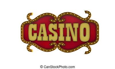 Casino  - isolated on white background