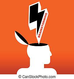 human head brainstorming
