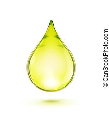 Oil drop - illustration of a single oil drop isolated on...