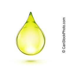 oil drop - Vector illustration of a single oil drop isolated...