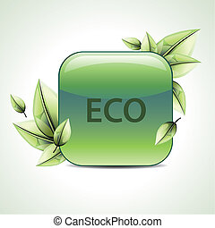 vector eco leaf design
