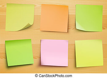 post it notes - Vector collection of post it notes in...
