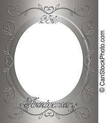 25th Anniversary - 3D Illustrated design for party, wedding,...