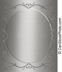 Silver satin Invitation
