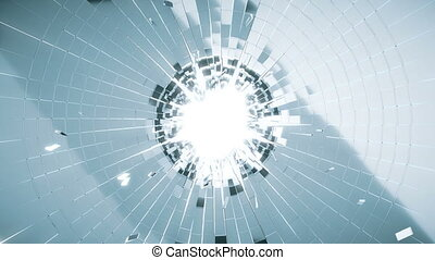 Bullet hole: Shattered glass slowmo - Bullet hole: Shattered...