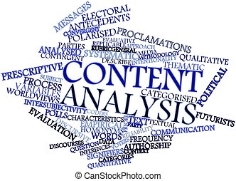 Word cloud for Content analysis - Abstract word cloud for...