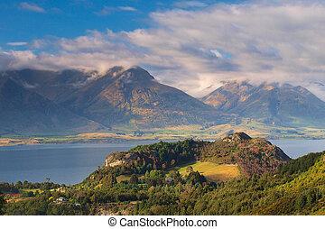 The Mountains near Queenstown New Zealand