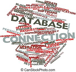 Database connection - Abstract word cloud for Database...