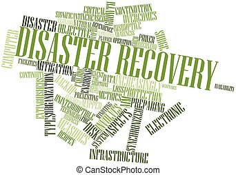 Word cloud for Disaster recovery - Abstract word cloud for...