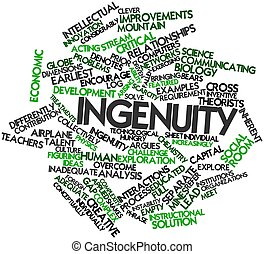 Ingenuity - Abstract word cloud for Ingenuity with related...
