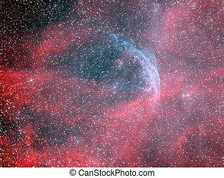 WR134 Wolf Rayet star and Ring Nebula