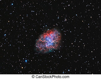 M1 Crab Nebula - supernova remnant and pulsar wind nebula in...
