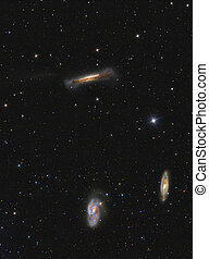 Leo Triplet Galaxies in constellation Leo