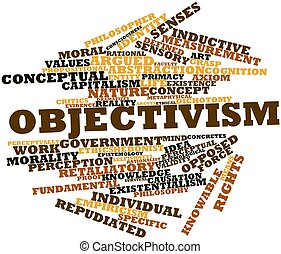 Objectivism - Abstract word cloud for Objectivism with...