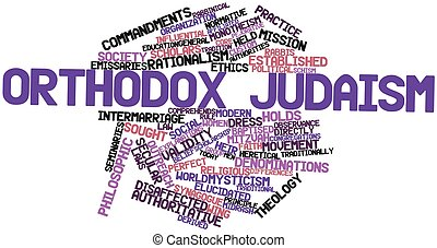 Orthodox Judaism - Abstract word cloud for Orthodox Judaism...
