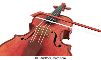 Violin - seamless loop on white background