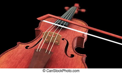 Violin - seamless loop on black background
