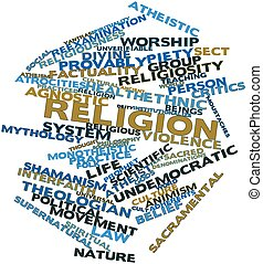 Word cloud for Religion - Abstract word cloud for Religion...